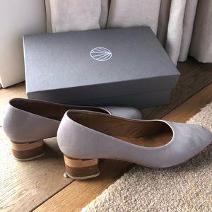 Coclico block heel pumps